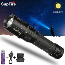 Supfire J6 Easy To Carry Rechargeable Flashlight Self-Defense Flashlight Climbing Bicycle Lamp LED Shooting Searchlight