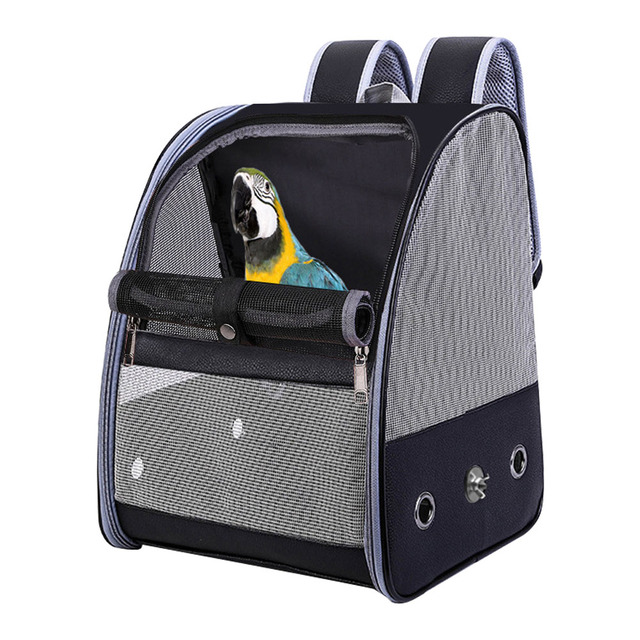 Accessories Pet Backpack Bird Parrot Travel Bag Cage Mesh Breathable Fashion Outdoor Adjustable Strap Foldable Carrier Zipper 4