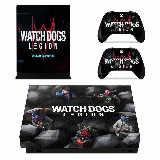 Watch Dogs Legion Skin Sticker Decal For Xbox One X Console And 2 Controllers For Xbox One X Skin Sticker Consoleskins Co