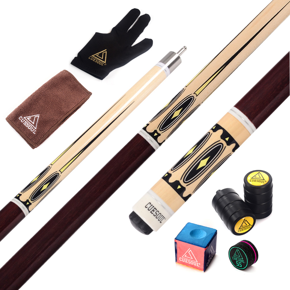 CUESOUL Pool Cue Stick with All Billiard Accessories.Cue Towel+Billiard Gloves+Chalk Pen+Billiard Chalk +Cue Joint/Shaft Protect