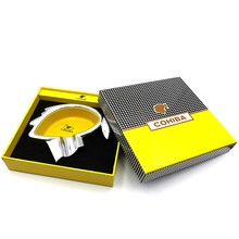 COHIBA Business Asbak Metalen Pocket Sigaret Sigaar Ash Tray Reizen Asbak Sigaar Thuis & Kantoor Fit Cohiba(China)