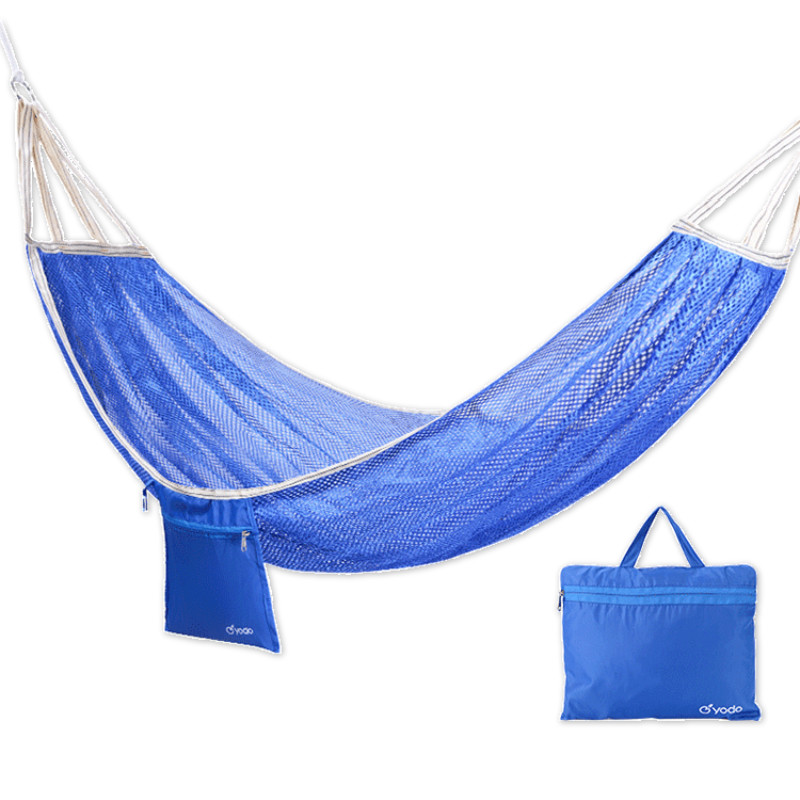 Outdoor Hammock Adult Single Double Anti-rollover Ice Silk Hammock Student Hanging Chair Hamaca Colgante Hangmat