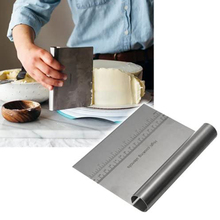 Stainless Steel Pizza Dough Scraper Pastry Cutter Baking Cutters Spatulas Fondant Kitchen Accessories Baking Decorating Tools stainless steel pizza dough scraper baking pastry spatulas fondant cake decoration tools kitchen accessories