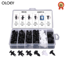 6 Size 100pcs Auto Fastener Clip Mixed Car Body Push Retainer Pin Rivet Bumper Door Trim Panel Retainer Fastener Kit стоимость