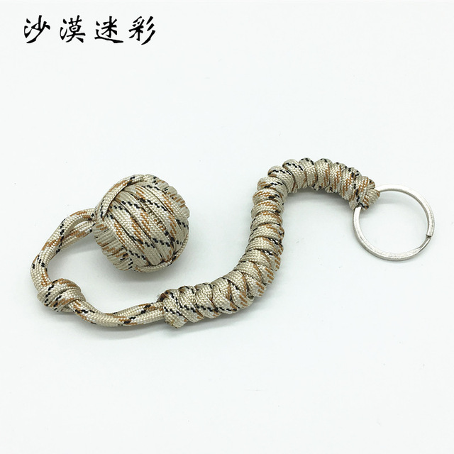 Outdoor Security Protection Black Fist Steel Ball for Girl Bearing Self Defense Lanyard Survival Key Chain Broken Windows