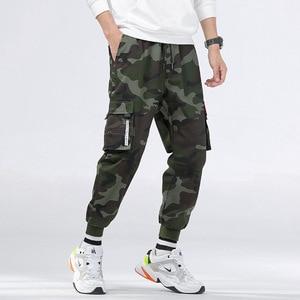 Image 3 - กางเกงCargoผู้ชายหลายกระเป๋าผ้าฝ้ายCamo Camouflage PantalonesยุทธวิธีMilitar Jogger Sweatpantsวัยรุ่น 7XL 8XLกางเกงชาย