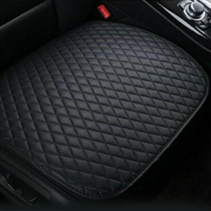 Black PU Leather Car Auto Seat Cover Breathable Pad Premium Interior Accessories