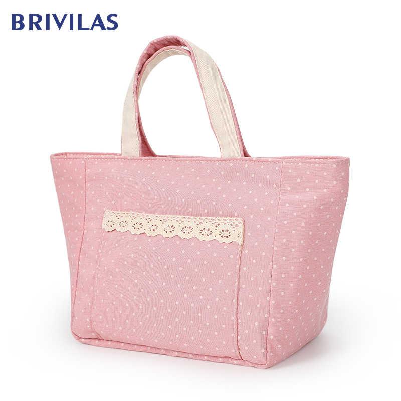 Brivilas 新ボックスバッグ防水 yhermal バッグオックスフォードポータブル熱絶縁カチオンピクニック食品ボックス女性トート収納アイスバッグ