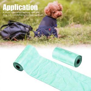 10 рулонов/150 шт биоразлагаемые, для домашних животных, мешки для собак для домашних животных, кошачьи отходы, мешок для уборки домашних животных