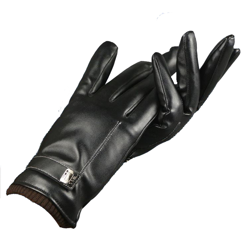 Women's Gloves Genuine Leather Winter Warm Fluff Woman Soft Female Rabbit Fur Lining Riveted Clasp High-quality Mittens MX134