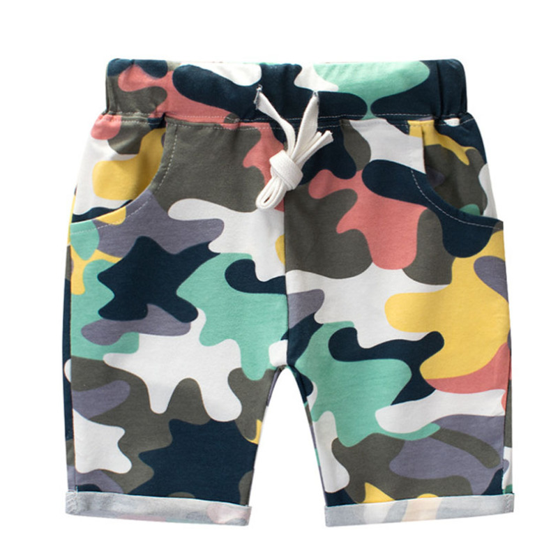 Summer Boys Camouflage Shorts Cotton Trousers Kids Beachwear Children Loose Sport Beach Shorts Sweatpants 2-7Y
