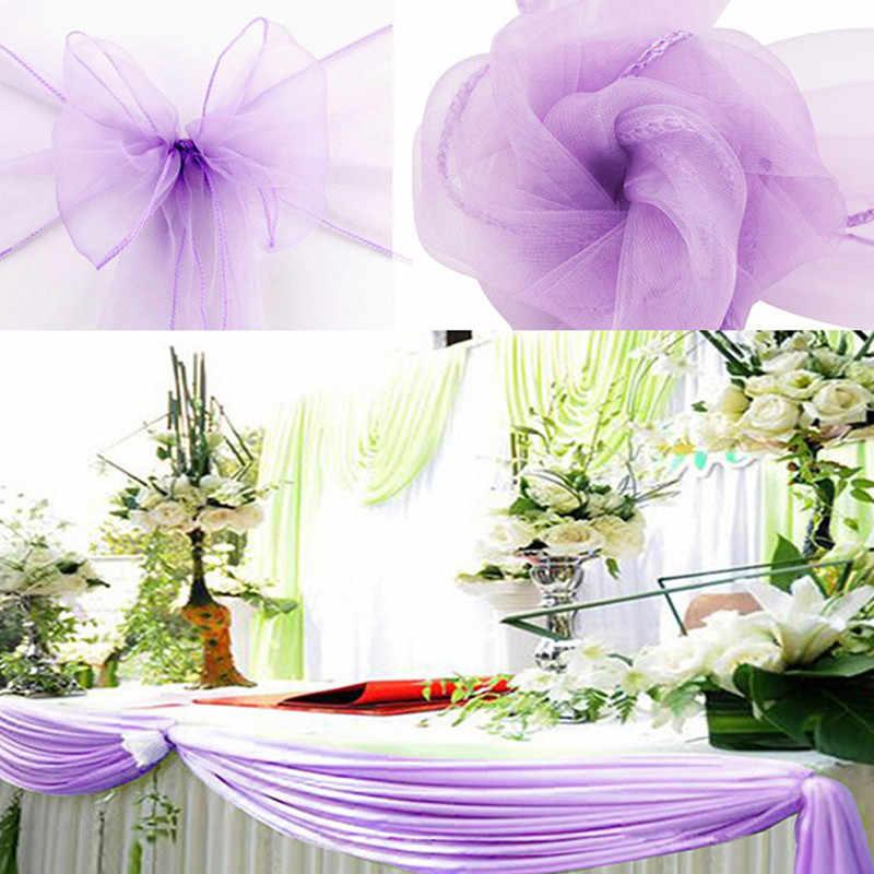 48cm * 10M קריסטל אורגנזה טול רול בד לחתונה נישואי יום הולדת תינוק מקלחת בודהה המפלגה דקור וגינה שולחן רץ 5z