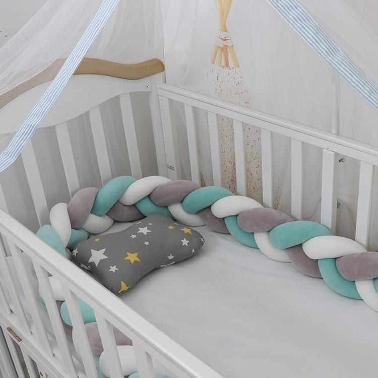 3M Length baby bed set baby cot bedding set baby nursery kit berço Long Knotted Braid Infant Room Decor