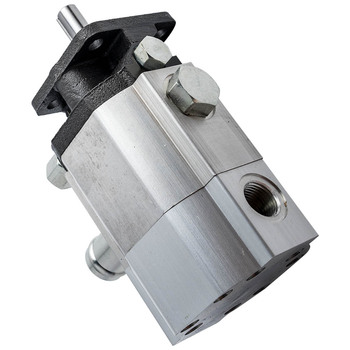 For 16 GPM Hi Lo POMPA Logsplitter Hydraulic Two 2 Stage Gear Pump image