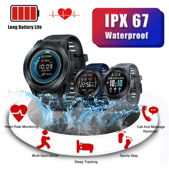 "Smart Watch Bluetooth 4.0 1.3"" Touch Screen Long Standby Time Health Tracker Message Reminder IP67 Waterproof Smart Wristwatch"