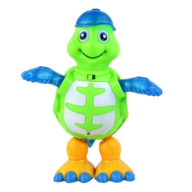 17018 Dancer Cartoon Animal Turtles Universal E-Bike Children Doll Music Light Cool Dancing Toy