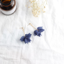 South Korea super fairy earrings summer fresh frosted flower Bohemian temperament female long personality fashion