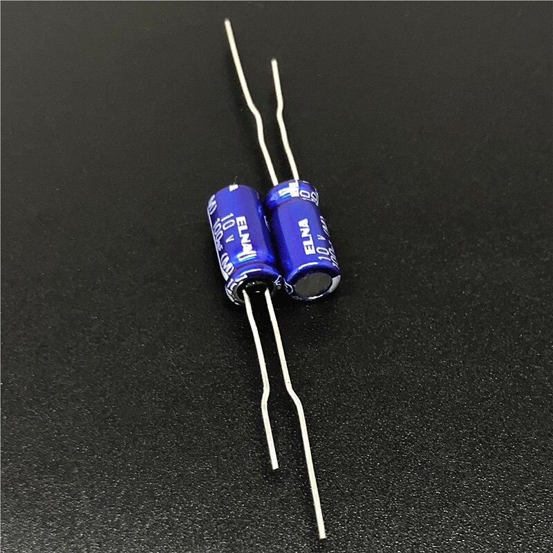10pcs 100uF 10V Japan ELNA RE3 Series 5x11mm 10V100uF Audio Capacitor