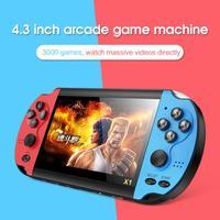 Portátil de 4,3 pulgadas HD 8GB Retro de Doble Joystick controlador de juego clásico consola Video construido en 10000 juegos