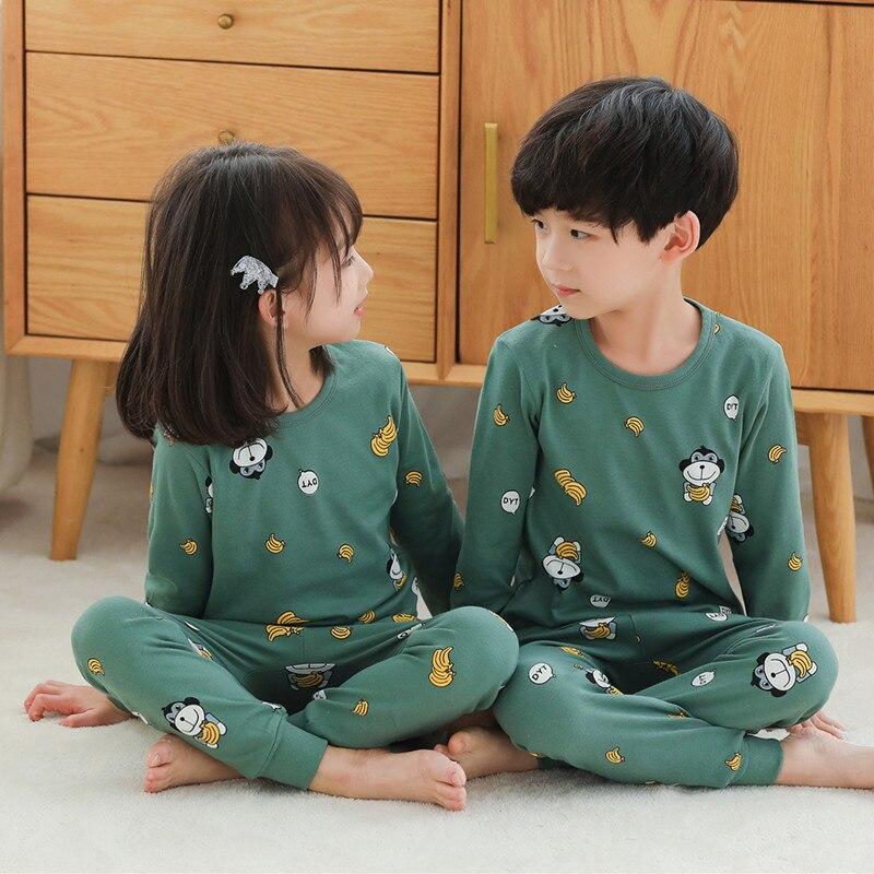 2020 Winter Children Christmas Pajamas Boys Cotton Nightwear Baby Girl Clothes Suit Cartoon Pyjamas Kids Pijama Infantil Teenage 3