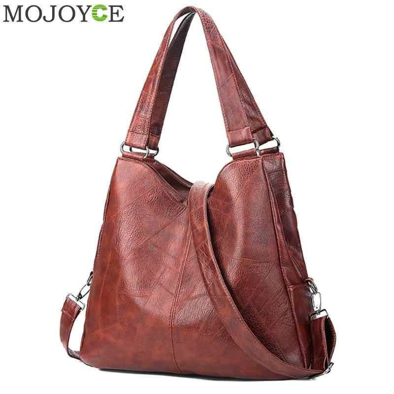 2019 Fashion Women Handbags High Quality Female Hobos Single Shoulder Bags Vintage Solid Multi-pocket Ladies Totes Bolsas