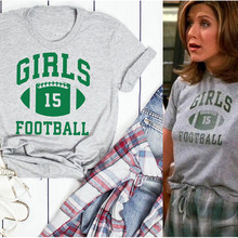 Amigos tv mostrar meninas futebol verde carta impressa algodão mais topos unisex streetwear feminino masculino meninas punk estilo moda 2020