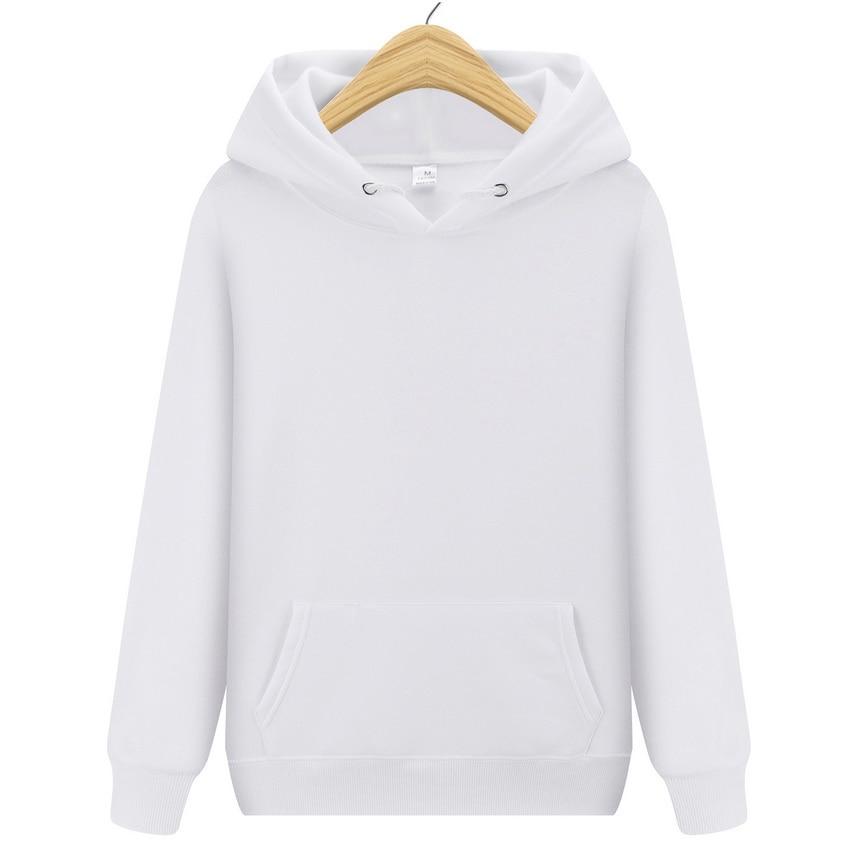 New Fashion Brand Men Hoodie Sweatshirt Solid Color Men's Streetwear Hip Hop Sweatshirts Men/Women Black White Pink Hoodie