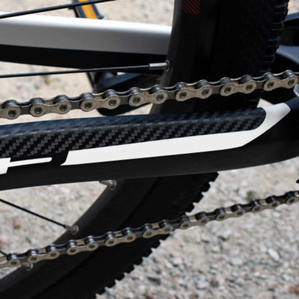 1pc Bike Chain Protector Black Cycling Frame Chain Guide Stay Posted Protector3c