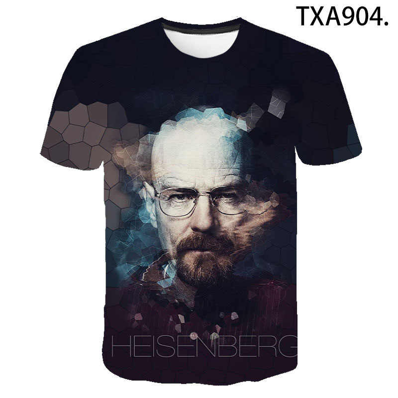 Women Men Casual T-Shirt 3D Printing Breaking Bad Harajuku Short Sleeve Tee Tops