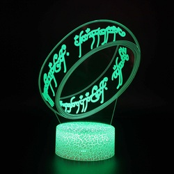 Prezent kreatywne lampy stołowe led do salonu ozdoby choinkowe prezent dla dziecka oświetlenie do pokoju akrylowe 3d solidna lampka nocna na biurko