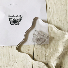 handmade by butterfly Transparent Clear Silicone Stamp/Seal for DIY scrapbooking/photo album Decorative Card Making vintage hanger design transparent clear silicone stamp seal for diy scrapbooking photo album paper card rz 086