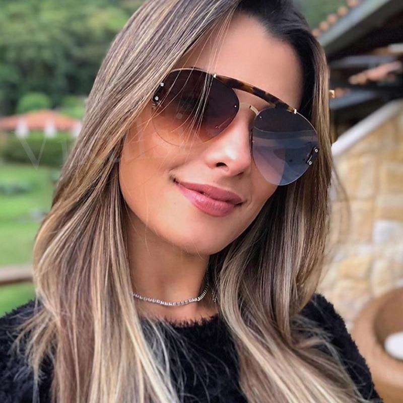 Retro Oversized Women Sunglasses Brand Designer Shades Luxury Original Round Sunglasses For Men Trend Pilot Eyewear UV400