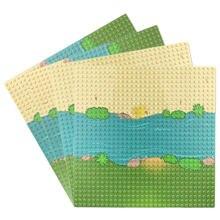 Tek taraflı çim nehir 32*32 nokta taban plakası küçük tuğlalar için MOC yapı taşı oyuncak setleri modelleri DIY oyuncaklar çocuklar için