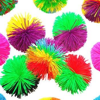 1PCs Rainbow Fidget Sensory Koosh Ball Toys Baby Funny Stretchy Ball Stress Relief Kids Autism Special Needs Gags Practical Joke
