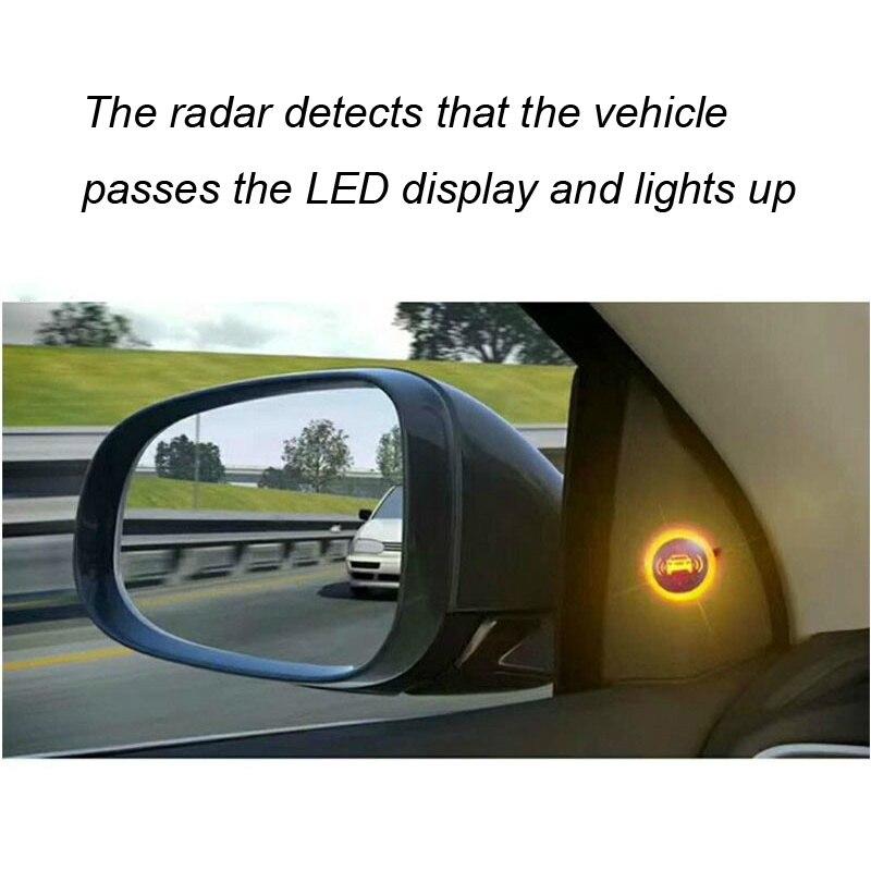 Universal Car Blind Spot Mirror Radar Detection System BSD BSA BSM Microwave Blind Spot Monitoring Assistant Car Driving Securit