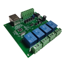 NEW-LAN Ethernet RJ45 TCP/IP WEB Remote Control Board with 4