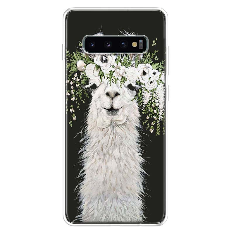 Lama Llama Alpacas Case for Samsung Galaxy S10 S20 Ultra Lite NOTE 10 9 8 S9 S8 + S7 Edge J4 J6 J8 2018 Plus Phone Coque