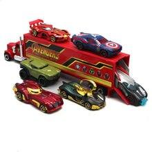 7 pçs disney marvel vingadores pixar carro relâmpago mcqueen jackson tempestade mack tio caminhão 1:55 diecast metal carro menino natal presente