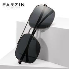 Parzin поляризованные мужские солнцезащитные очки Новая Металлическая