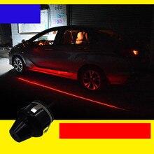 2Pcsประตูรถโปรเจคเตอร์Welcome Light LEDเปิดประตูความปลอดภัยคำเตือนAnti Collisionไฟสัญญาณรถจักรยานยนต์โลโก้ประตูlight