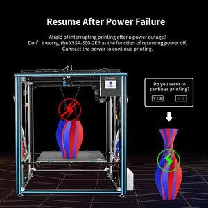 Image 3 - TRONXY büyük DIY 3D yazıcı Cyclops 2 çift renkli ekstruder isı yatak dokunmatik ekran büyük boy 500*500*600mm X5SA 500 2E