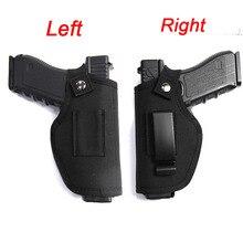 Tactical Left Right Hand Glock Gun Holster Bag Waist Hunting Airsoft Gun Case for Glock Colt 1911 Beretta M9 P226 Pistol Holster gun quick pulling nylon plastic waist holster for p226 black