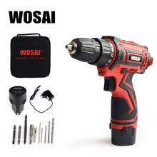 WOSAI 12V Electric Screwdriver Electric Drill lithium Cordless Drill Cordless Screwdriver Mini Drill Rotary Tool Power Tools