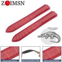ZLIMSN Original Genuine Crocodile Alligator strap For BALLON BLEU DE CARTIER Watch Band Customization Service Watchband
