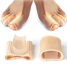 1/2PC silicona Gel juanete separador Corrector de dedos Valgus guardia férula secreto pie Camilla pulgar ajustador de corrección de pedicura
