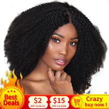цена на Afro Kinky Curly Hair 3 Bundles Brazilian Hair 100% Remy Human Hair Bundles Extensions 8-30inch Natural Double Weft Weave