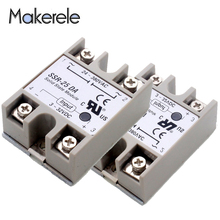 Low Power Solid State Relay Module SSR-25DA DC 25A 3-32V TO 24-380V AC Voltage Transformer Top Brand Maker New 2 channel ssr solid state relay high low trigger 5a 3 32v for arduino uno r3 new