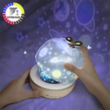 Coversage proyector giratorio de luz nocturna para niños, proyección romántica para dormir, estrella del cielo estrellada, maestro Ocean World