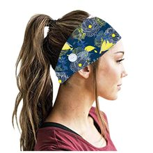 3PCS Women Headbands With Buttons Running Sport Yoga Elastic Hair Band Face Holder Wear Protect Ears chouchou cheveux femme 0507(China)