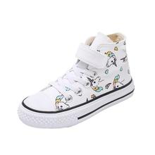 2020 meninas unicórnio botas arco íris vulcanizado lona criança botas grandes meninas e meninos tênis inverno tornozelo inglaterra botas 25 38
